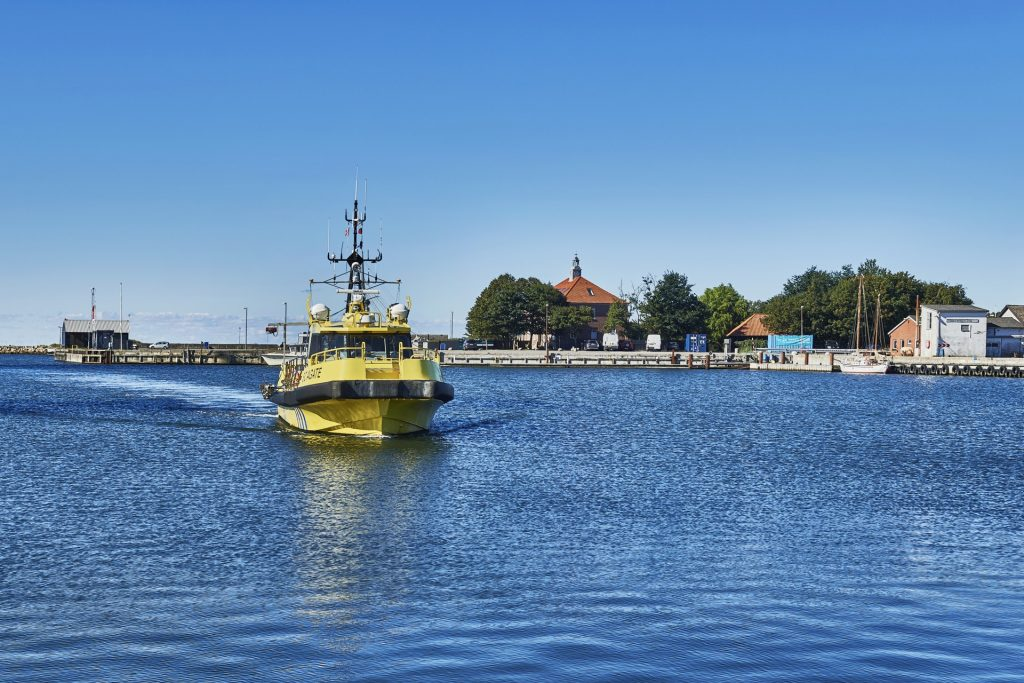 Vessel at the Fehmarn Belt Link