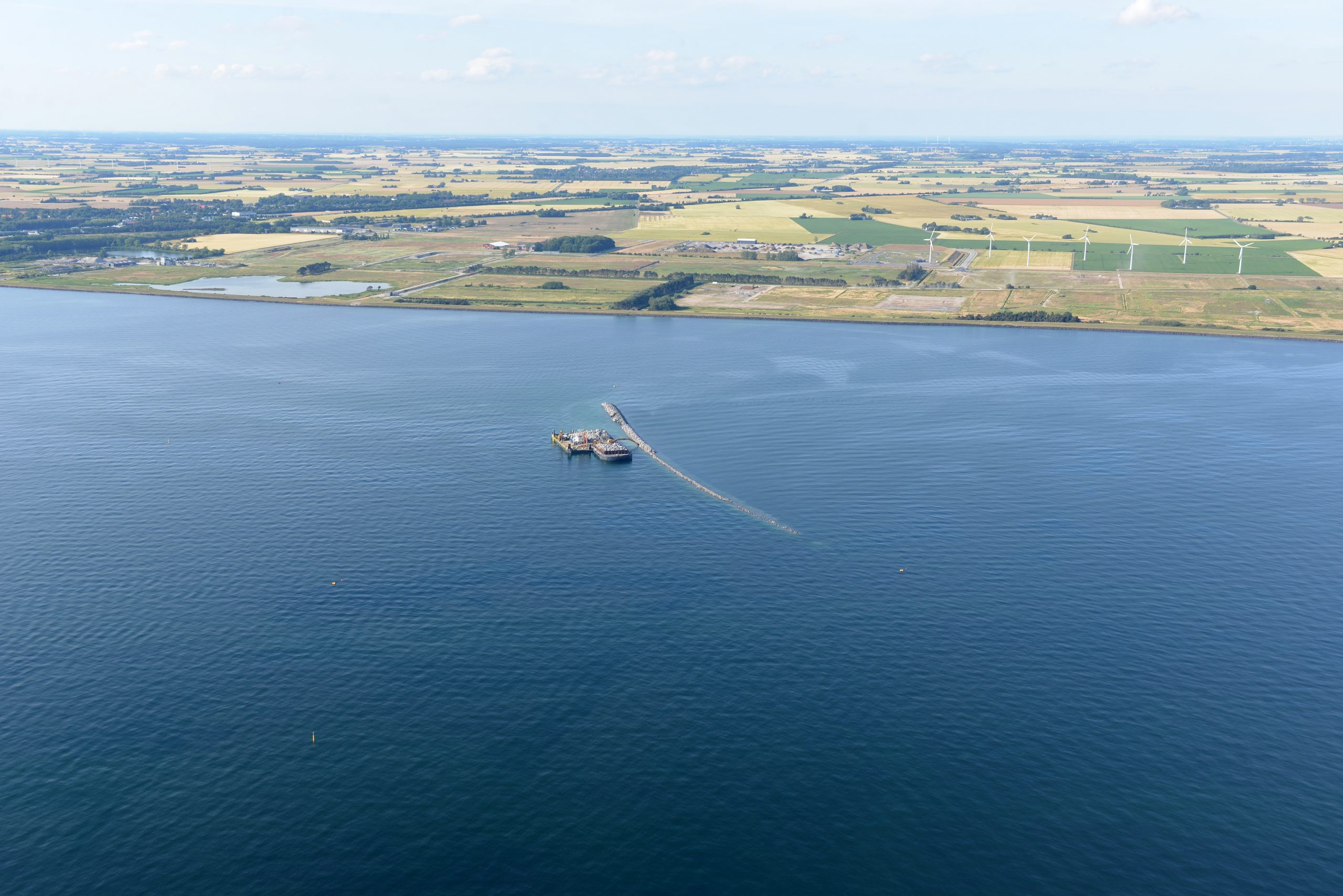 The first harbor dike